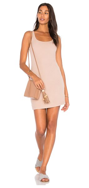 Michael Lauren Boston Rib Tank Dress in mauve - 94% rayon 6% spandex. Dry clean only. Fully lined. Rib...