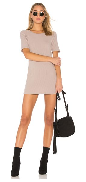 Michael Lauren Eden Dress in taupe - 62% rayon 23% poly 13% cotton 2% spandex. Dry clean...