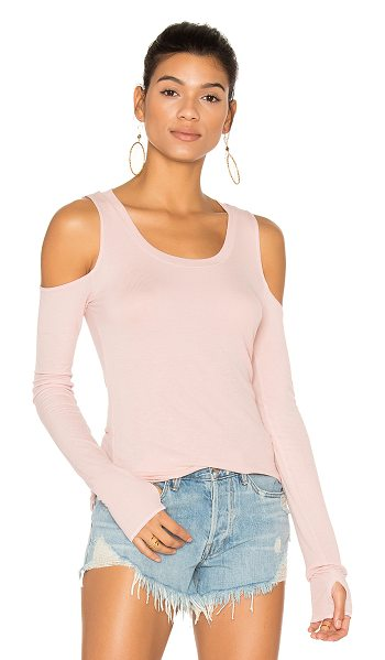 Michael Lauren Filippo Open Shoulder Top in blush - 94% rayon 6% spandex. Dry clean only. Shoulder cut-outs....
