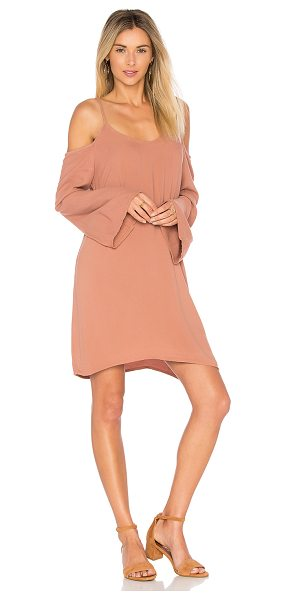 Michael Lauren Gillis Bell Sleeve Dress in brown - 100% rayon. Dry clean recommended. Unlined. Adjustable...