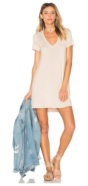Michael Lauren Lane Mini Dress in beige - 94% rayon 6% spandex. Dry clean recommended. Unlined....