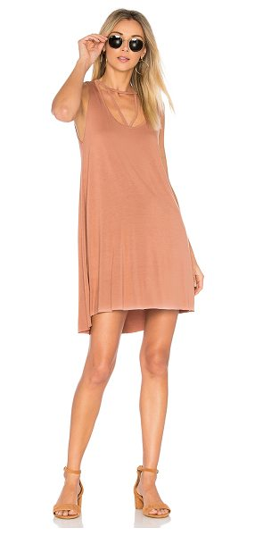 Michael Lauren Mackay Tank Dress in chai - 94% rayon 6% spandex. Dry clean recommended. Unlined....