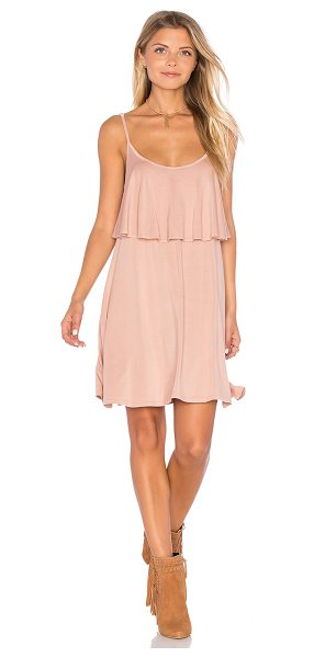 Michael Lauren Marlow Mini Dress in blush - 94% rayon 6% spandex. Dry clean recommended. Unlined....