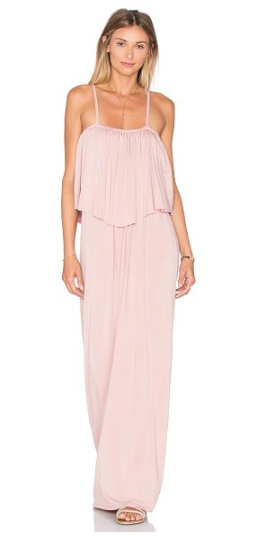 Michael Lauren Matador Maxi Dress in blush - 94% rayon 6% spandex. Dry clean recommended. Unlined....