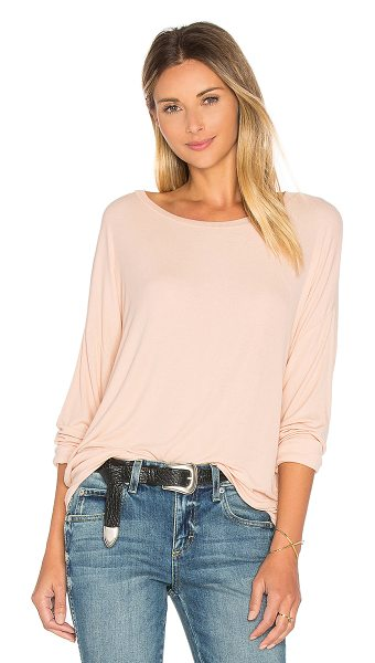 Michael Lauren Maximo Drop Shoulder Top in peach - 94% rayon 6% spandex. Dry clean recommended. Rib knit...