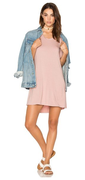 Michael Lauren Michal Mini Dress in pink - 94% rayon 6% spandex. Dry clean only. Unlined. Jersey...