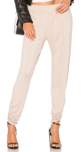 Michael Lauren Pablo Pant in cream - 94% rayon 6% spandex. Dry clean recommended. Elasticized...
