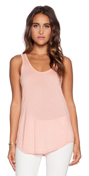 Michael Lauren Ray tank in peach - 100% micro modal. Dry clean recommended. MLAU-WS287. ML...