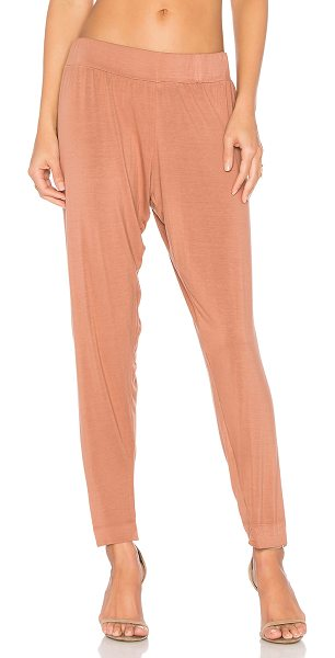 Michael Lauren Scorpion Trouser Pant in brown - 94% rayon 6% spandex. Dry clean recommended. Elastic...