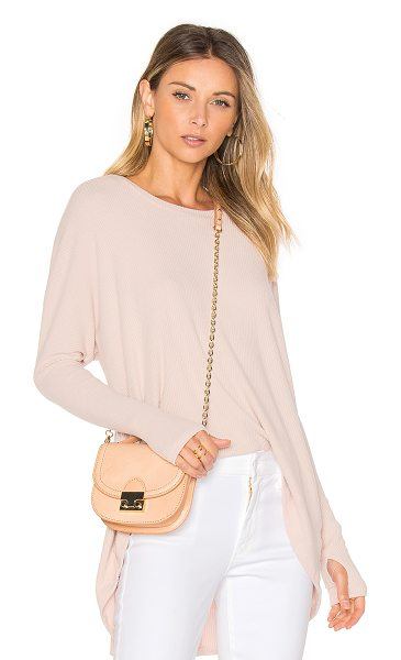 Michael Lauren Spencer Pullover in pink - 62% rayon 23% poly 13% cotton 2% spandex. Dry clean...
