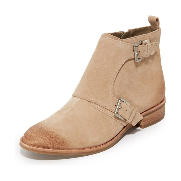 MICHAEL MICHAEL KORS adams monk strap booties - Buckles accent the fold over shaft on these suede...