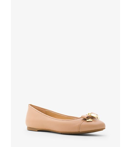 MICHAEL MICHAEL KORS Alice Leather Ballet Flat - A Touch Of Shine And Luxe Leather Elevate Our Alice...