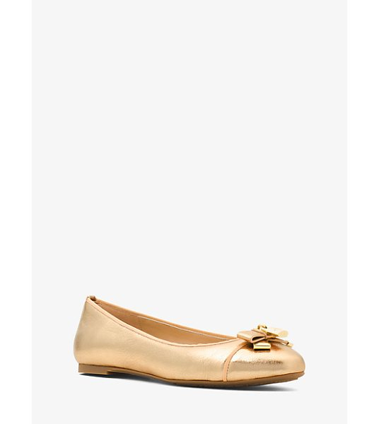 MICHAEL Michael Kors Alice Metallic Leather Ballet Flat in gold - Metallic Leather Highlights Our Alice Ballet Flats With...