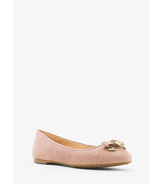 MICHAEL Michael Kors Alice Suede Ballet Flat in pink - A Touch Of Shine And Luxe Suede Elevate Our Alice Ballet...