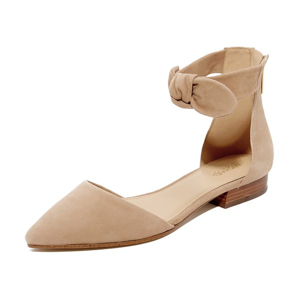 MICHAEL Michael Kors alina flats in dk khaki - A soft, knotted bow adds feminine charm to these...