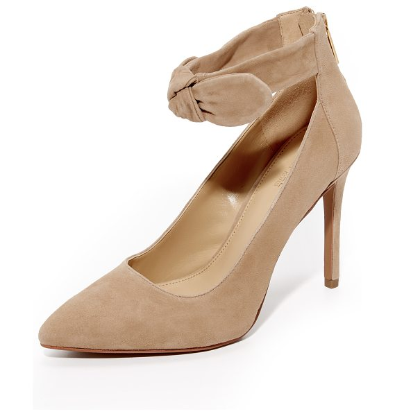 MICHAEL Michael Kors alina pumps in dk khaki - A soft, knotted bow adds feminine charm to these...