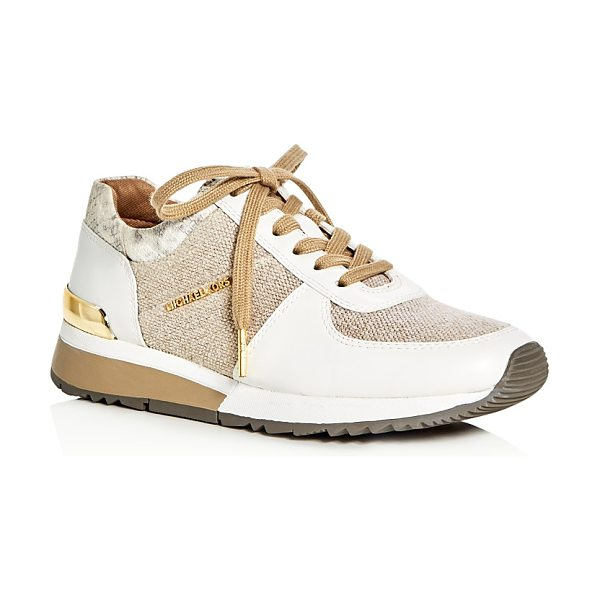 MICHAEL Michael Kors Allie Hemp Lace Up Sneakers in natural - Michael Michael Kors Allie Hemp Lace Up Sneakers-Shoes