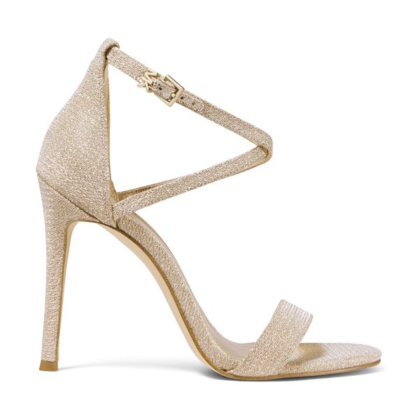 MICHAEL Michael Kors antonia metallic ankle strap sandals in pale gold