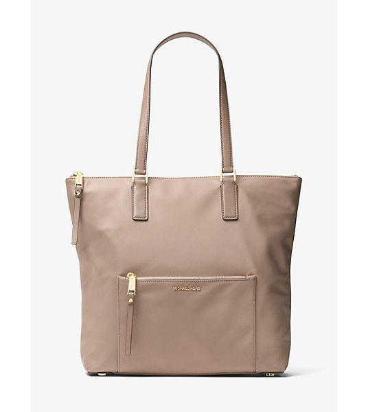 MICHAEL Michael Kors Ariana Large Nylon And Leather Tote in natural - Modern Meets Classic In The Form Of Our Ariana Tote....