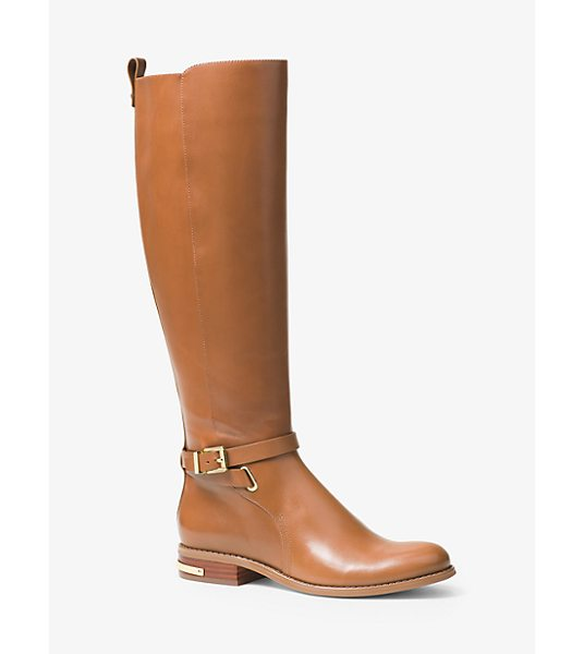 MICHAEL MICHAEL KORS Arley Leather Boot - Glossy Leather And A Heritage Riding Boot Silhouette...