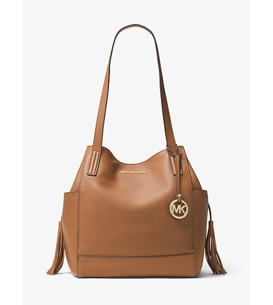 MICHAEL MICHAEL KORS Ashbury Large Leather Shoulder Bag in brown - Our Ashbury Shoulder Bag Is Designed In Luxe Leather...