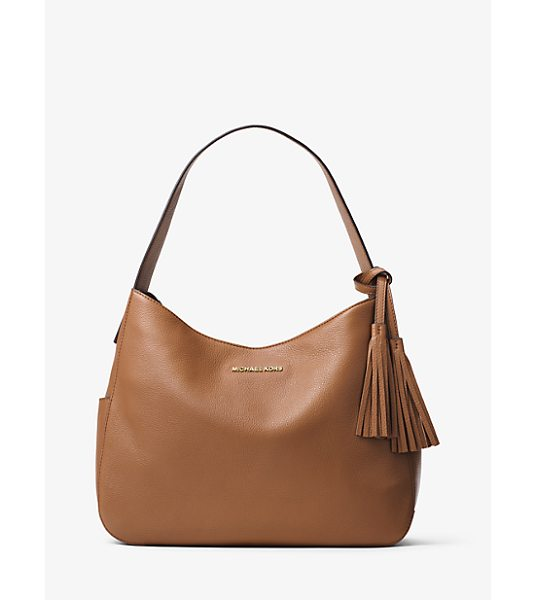 MICHAEL MICHAEL KORS Ashbury Large Leather Shoulder Bag in brown - A Study In Quiet Glamour The Ashbury Shoulder Bag Is...
