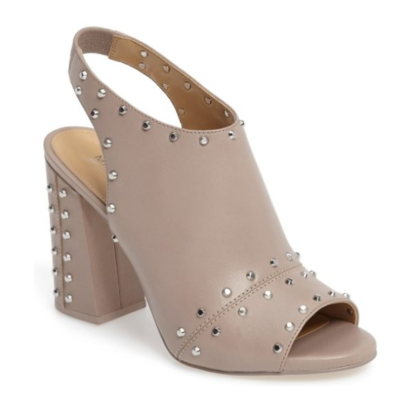 MICHAEL Michael Kors astor studded sandal in mink leather - Blunted cone studs punctuate the smooth leather of a...