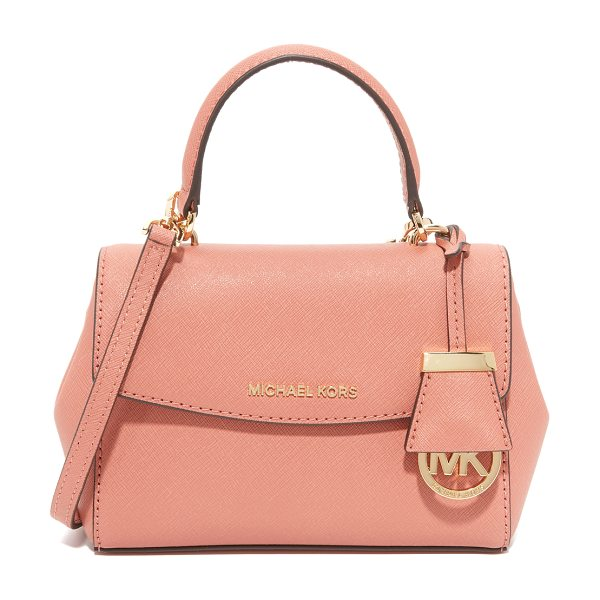 MICHAEL Michael Kors Michael Michael Kors Ava Cross Body Bag in antique rose - A petite MICHAEL Michael Kors cross body bag in saffiano...