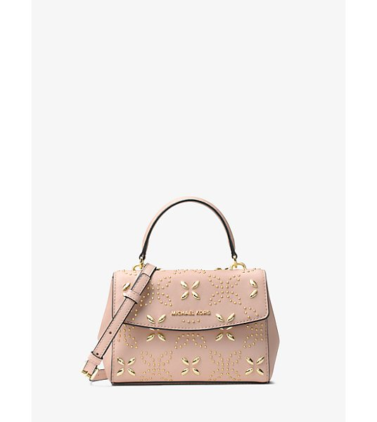 MICHAEL Michael Kors Ava Extra-Small Floral Studded Crossbody in pink - This Decidedly Ladylike Crossbody Showcases A Studded...