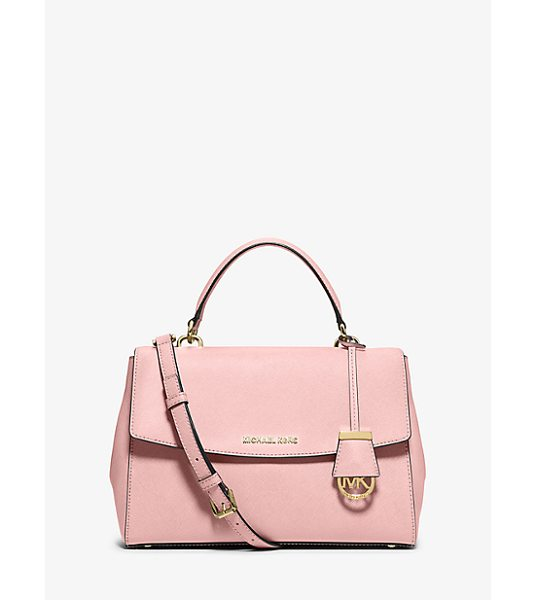 MICHAEL Michael Kors Ava Medium Saffiano Leather Satchel in pink - This Decidedly Ladylike Take On The Top-Handle Bag...