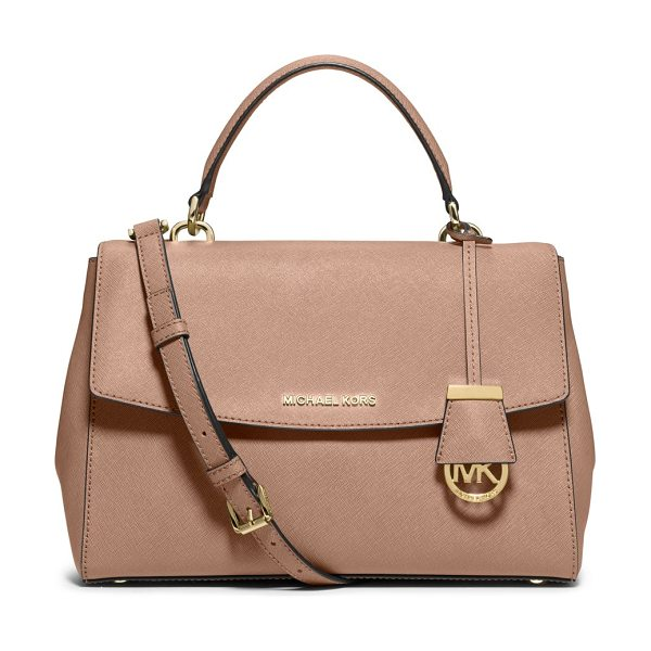 MICHAEL Michael Kors Ava large saffiano leather satchel in ballet - As roomy and beautifully designed as it is city-chic,...