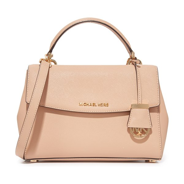 MICHAEL Michael Kors ava satchel in oyster - A structured MICHAEL Michael Kors cross-body bag in...
