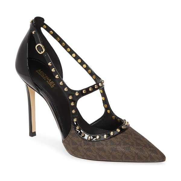 MICHAEL Michael Kors ava studded pump in brown