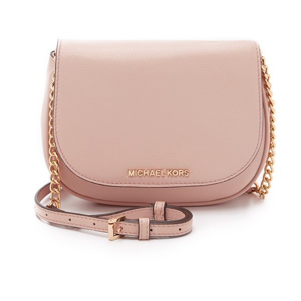 MICHAEL Michael Kors Bedford small cross body bag in ballet - A refined MICHAEL Michael Kors cross body bag in pebbled...