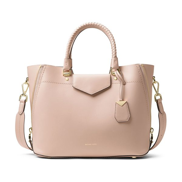 MICHAEL Michael Kors Blakely Medium Leather Tote Bag in light pink - MICHAEL Michael Kors smooth calf leather tote bag....