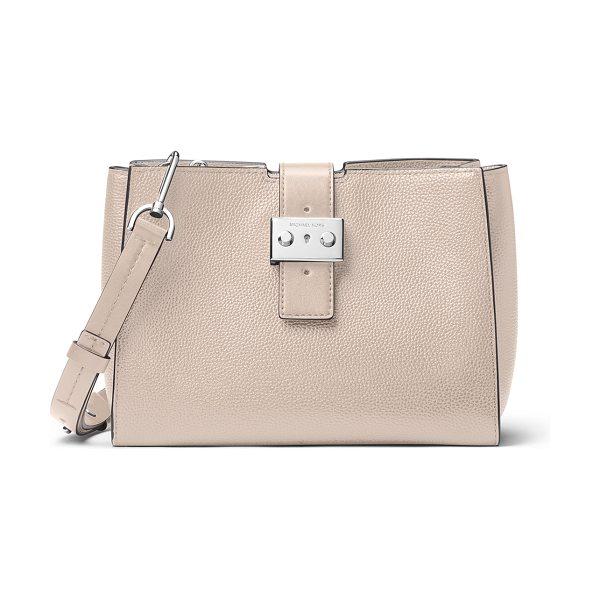 MICHAEL Michael Kors Bond Medium Leather Messenger Bag in cream