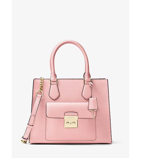 MICHAEL MICHAEL KORS Bridgette Medium Saffiano Leather Tote in pink - Meet Bridgette – The Tote With Everyday Versatility...