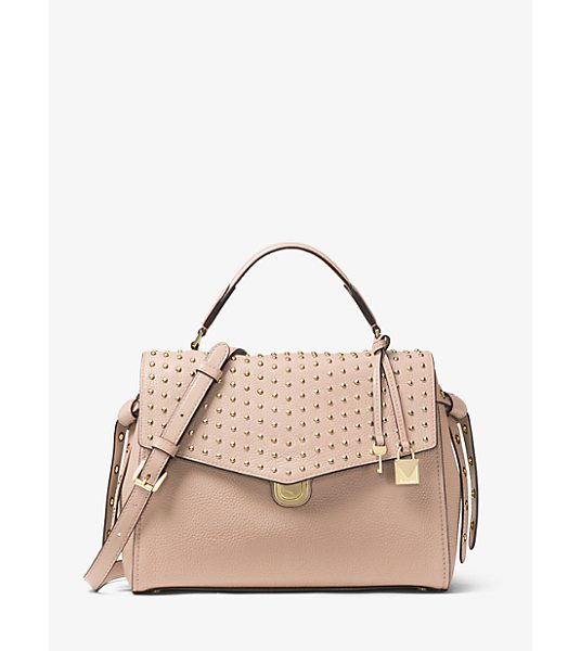 MICHAEL Michael Kors Bristol Medium Studded Leather Satchel in pink - Soft Meets Structured On Our Bristol Satchel Crafted...