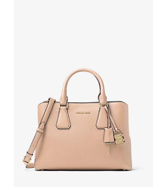 MICHAEL Michael Kors Camille Leather Satchel in pink - Rendered In Pebbled Leather With Touches Of Gold-Tone...