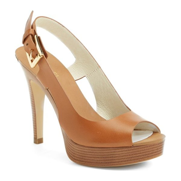 MICHAEL Michael Kors carina slingback peep toe pump in luggage