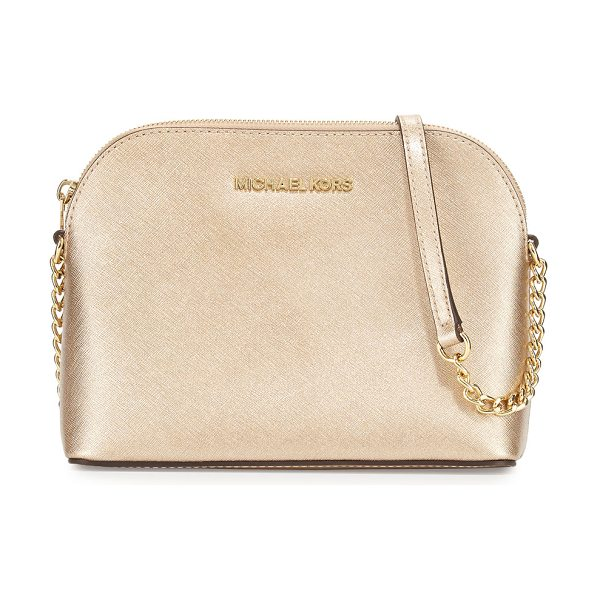 MICHAEL Michael Kors Cindy Large Dome Crossbody Bag in pale gold