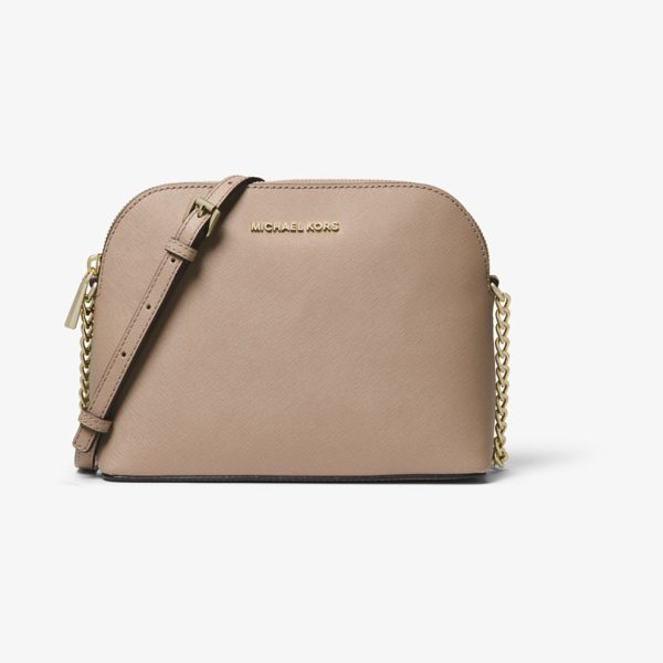 MICHAEL Michael Kors Cindy Large Saffiano Leather Crossbody in brown - Never Before Has A Crossbody Looked So Sophisticated. We...