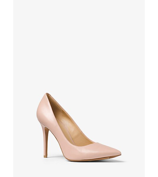 MICHAEL Michael Kors Claire Leather Pump in pink - Our Claire Pumps Are Crafted From Smooth Leather And...