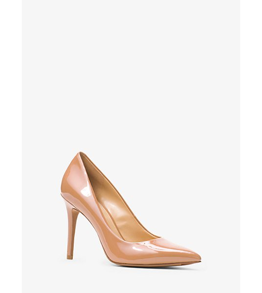 MICHAEL Michael Kors Claire Patent-Leather Pump in natural - Give Day And Night Looks A Glossy Touch With Our Claire...