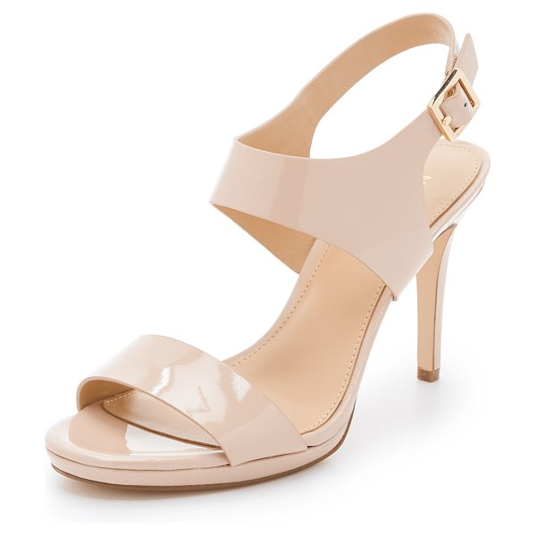 MICHAEL Michael Kors Claudia sandals in lt blush - Timeless MICHAEL Michael Kors pumps made from patent...
