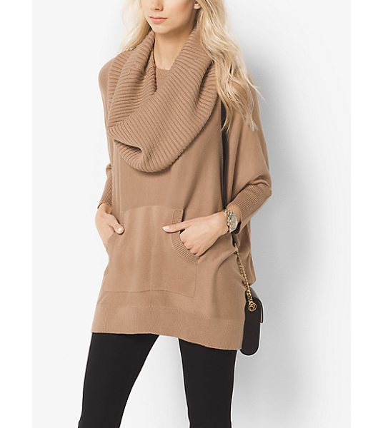 MICHAEL MICHAEL KORS Cotton-Blend Cowlneck Poncho - As Elegant As It Is Sporty This Cotton-Blend Poncho Is...