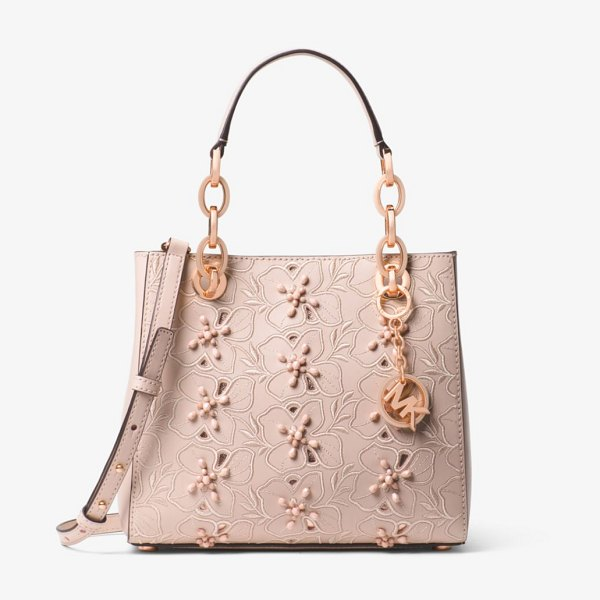 111914655def5f 3f18f b8090; netherlands michael michael kors. cynthia small floral  embroidered leather satchel 2ac7d 02022