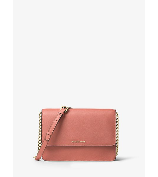 MICHAEL Michael Kors Daniela Large Leather Crossbody in pink - Sleek Sharp And Minimalist Theres No Ensemble This...