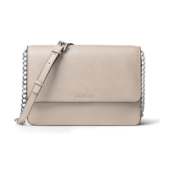 MICHAEL Michael Kors Daniela Large Saffiano Crossbody Bag in cream - MICHAEL Michael Kors saffiano leather crossbody bag....