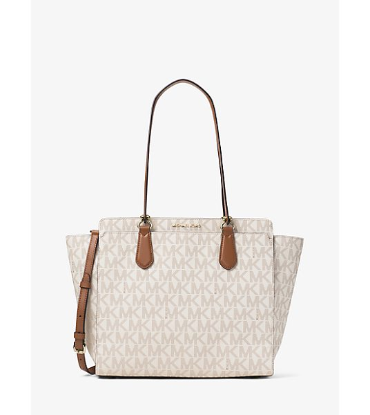 MICHAEL Michael Kors Dee Dee Large Convertible Logo Tote in natural - Meet Your New Mvp (most Versatile Purse). Our Dee Dee...